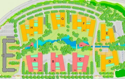 Giat plan masse - projet architecte parc d'entreprises