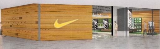 Réaménagement d'un magasin Nike