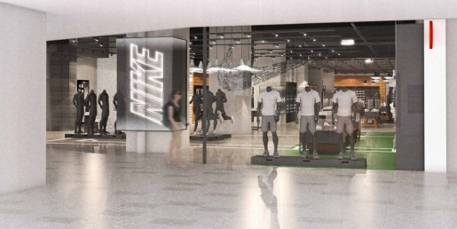 Réaménagement de magasin Nike