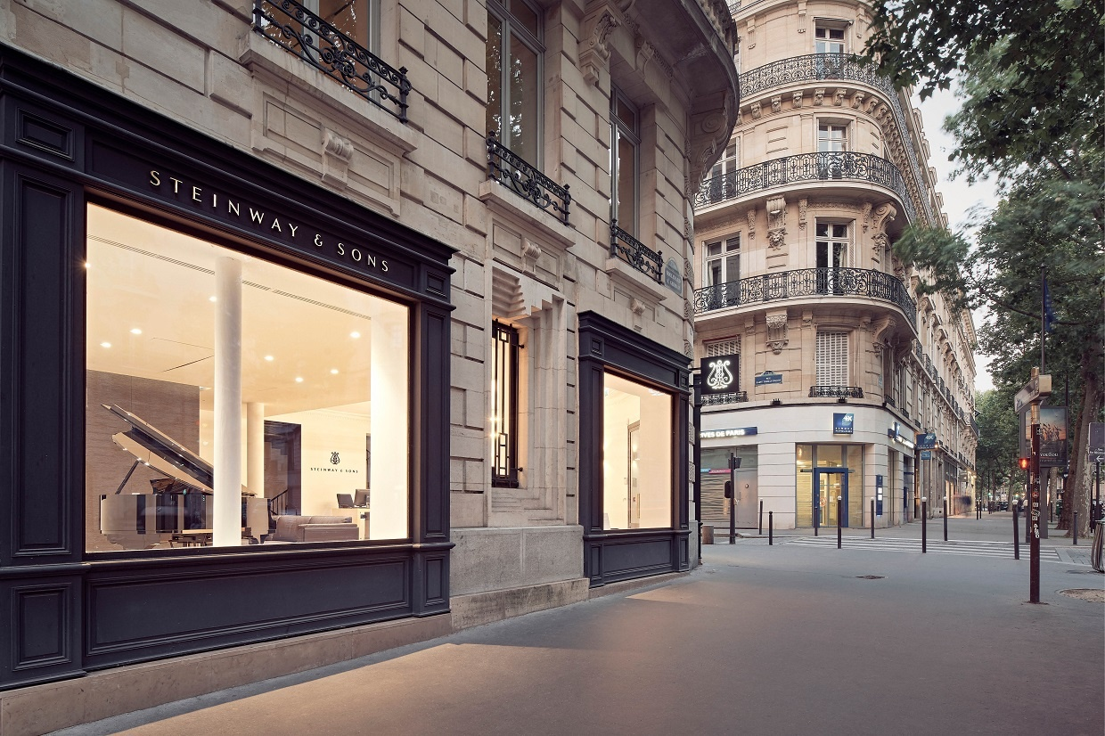 Reid Brewin Architectes Aménagement boutique Steinway & Sons Architecture Paris